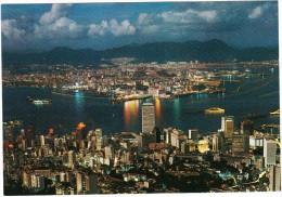 Hong Kong : Night Scene From Peak - China (Hongkong)