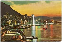 Hong Kong : Beautiful Dusk Scene Of Victoria - China (Hongkong)