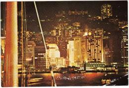 Hong Kong: Night View Of The Mandarin From A Harbour Ferry - China (Hongkong)