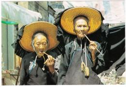 Hong Kong  : Old Women Smoking Pipes - China (Hongkong)