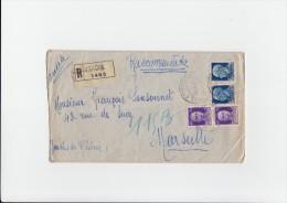 Lettre RECOMMANDEE De CALAMBRONE  Le 1 9 1939  Pour MARSEILLE Affranchie Avec 4 Timbres - 1900-44 Victor Emmanuel III