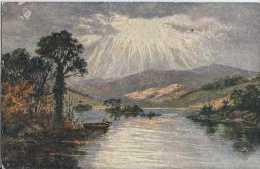 Carte Olio - Peinture En Relief - Lac - Pas Circulé - Vers 1920 - TBE - Illustrateurs & Photographes