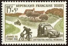 France Philatélie N° 1151 ** Journée Du Timbre 1958 - Mécanisation Et Distribution Rurale - Vélo - Moto - Citröen 2 Ch - Tag Der Briefmarke