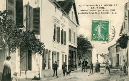 Cpa 17 La Jarrie Trés Animée écrite Timbrée 1910 - Andere Gemeenten