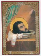 SANTINO RUSSO -  HOLY CARD - S. GIOVANNI DECOLLATO (BATTISTA) - Preghiera In Cirillico - Santini