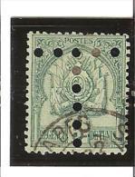 TIMBRES POSTE DE  1888  -  98 CHIFRRES  GRAS  Perforés  N° 11   Oblitéré - Timbres-taxe