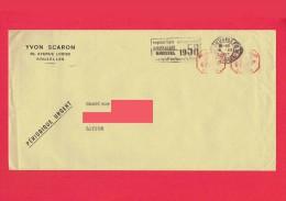 Enveloppe - Yvon SCARON - Agent De Change Bruxelles - 1957 - Marcophilie : Exposition Universelle De Bruxelles 58 (4131 - Frankeermachines