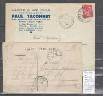 Lettres Cachet  Gare De Serquigny Dans L´Eure - 2 Piéces - Indice 10 Et 4 - Spoorwegpost