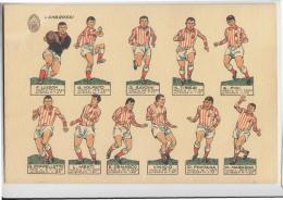 CALCIO Campionato 1965-1966 Cartolina Sqaudra LANEROSSI VICENZA-figurine-LUISON.VINICIO,VOLPATO,SAVOINI,TIBERI,PINI.e550 - Football