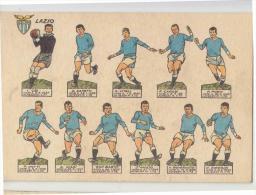 CALCIO Campionato 1964-1965 Cartolina SQUADRA LAZIO Figurine CALCIATORI-NUOVA-e552 - Football