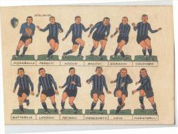 CALCIO Campionato 1964-1965 Cartolina SQUADRA ATALANTA Figurine CALCIATORI-NUOVA-e553 - Calcio