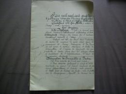 MECQUIGNIES ACTE DE VENTE DU 15 NOVEMBRE 1923 PAR M.DEGHAYE MARCHAND BRASSEUR DE MAISONS A USAGE DE DEBITS DE BOISSONS - Manuskripte