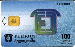 @+ TC De Géorgie - PELIKOM à Puce - 30 000ex (1996) - Georgië