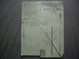 FOURMIES LUC & Cie MANUFACTURE D'ARTICLES DE MENAGE FACTURE ET TRAITE DU 22 NOVEMBRE 1913 - France