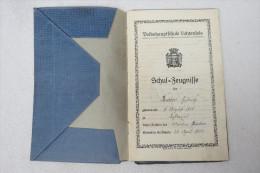 Zeugnisheft Der Volkshauptschule Lichtenfeld Mit Zeugnissen Für 8 Schuljahre (von 1927 Bis 1935) - Schulbücher