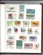 PetitAlbum Rempli De + 220 Timbres Uniquement INSECTES : Araignée, Mouches, Abeilles, Autres Sauf Papillons - Unclassified