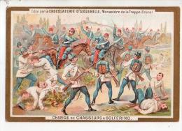 """CHROMO . CHOCOLATERIE D´AIGUEBELLE . """" CHARGE DE CHASSEURS À SOLFÉRINO """" - Réf. N°14911 - - Aiguebelle"""