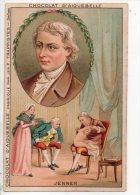 CHROMO . CHOCOLATERIE D´AIGUEBELLE . ÉDOUARD JENNER - Réf. N°14914 - - Aiguebelle