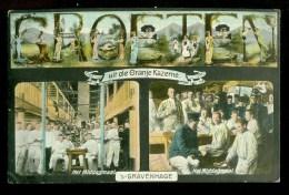 DEN HAAG * UIT DE ORANJEKAZERNE * ANSICHTKAART * CPA * GELOPEN IN 1912 LOKAAL  DEN HAAG  (3765c) - Kasernen