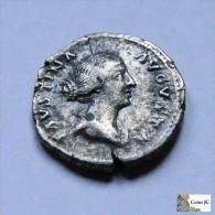 Roma - Faustina La Joven - Denario -  147/175 DC. - 3. Die Antoninische Dynastie (96 / 192)