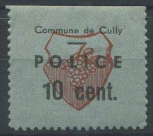 1101 - CULLY Fiskalmarke - Fiscaux