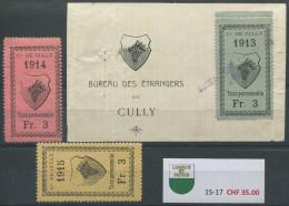 1102 - CULLY Fiskalmarken - Steuermarken