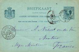 Bk G 27 ARNHEM - Menton 25 MRT 90 - Postal Stationery