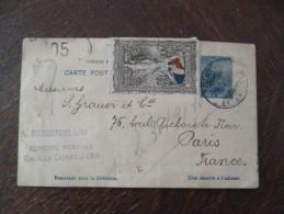 Argentine Argentina Entier 5c Bleu Pour Paris Avec Vignette Patriotique Guerre 14/18 - Entiers Postaux