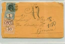 LETTERA DA CALLAO (PERU') A GENOVA 1877 AFFRANCATA CON 10 CENT. DEL PERU' - TRANSITATA A LONDRA - Marcophilia