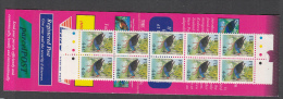 BIRDS- FIJI - BIRDS BOOKLET COMPLETE WITH OANE OF 10 X  44C MINT - Palomas, Tórtolas