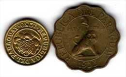 Paraguay : Lot De 2 Pièces : 1 Centimo 1950 & 50 Centimos 1953 - Paraguay