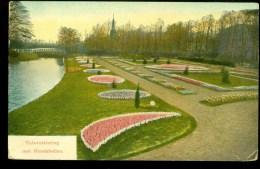 Tuinversiering Met Bleombollen  * CPA * GELOPEN Van WASSENAAR Naar PARIS  (3767m) - Bloemen