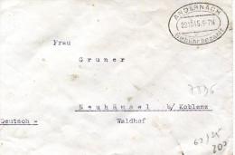 ANDERNACH Allemagne OCCUPATION FRANCAISE CAD 22.10.1945 Cachet Utilisé Avant L'arrivée Des Timbres De Zone Française  .G - Zone Française