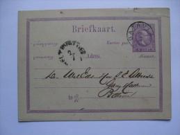 NETHERLANDS INDIES 1879 POSTAL STATIONARY CARD WITH BATAVIA MARK - Indie Olandesi