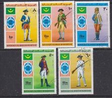 Mauretania 1976 US Bicentennial 5v Used (SB104H) - Mauritanië (1960-...)