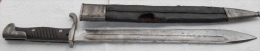 BAÏONNETTE ALLEMAGNE 98/05 1er Type Fourreau Cuir - Armes Blanches