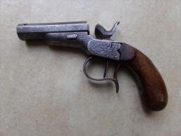 Ancien Pistolet à Poudre Noire, Monocoup, à Percussion Centrale - Sammlerwaffen