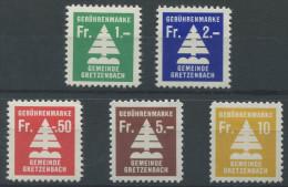 1115 - GRETZENBACH Fiskalmarken - Fiscaux