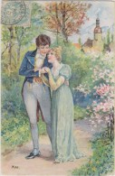 CARTE EN RELIEF - MOIS DE L´ANNEE : MAI  - COUPLE EN PROMENADE - Couples