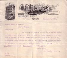 ETATS UNIS - PUY DE DÔME - DE MILWAUKEE A AMBERT - DE M.H. WILTZIUS CO  A MR OUVRY - LETTRE - 1902 - USA