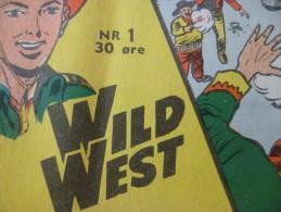 BD Petit Format En Danois Tex Willer Récit Complet Wild West Farwest Cowboy N°1 Rarissime En L´état Pub Moto - Livres, BD, Revues