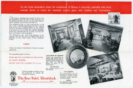 OXFORD : WOODSTOCK - THE BEAR HOTEL - Advertising