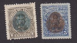 El Salvador, Scott #105, 108, Mint Hinged, Coat Of Arms, Issued 1895 - El Salvador