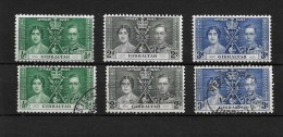 Gibraltar 1937 KGVI Coronation Omnibus Set Complete Mint And Used (4241) - Gibraltar