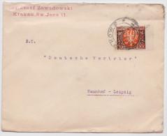 KRAKAU - KRAKOW - CRACOVIE - Polen - Poland - Lettre Pologne - Enveloppe Timbrée Pour Naunhof-Leipzig - Mail Cover - 1919-1939 Republic