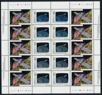Canada   HOLOGRAM 1442 A Sheet Complete  Satellite  MNH/** - Hologrammes