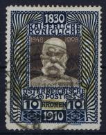 Österreich Franz Joseph Mi.-Nr. 177 Höchstwerte  Attest Dr Ferchenbauer  Stempel Badgastein 18 Aug 1910 Ersttag!!