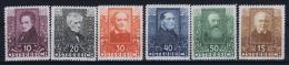 Österreich Mi.-Nr.  524 - 529  MNH/** Sans Charnière  Postfrisch 1931 - Ungebraucht