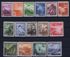 Österreich Mi.-Nr.  598 - 612  1955 MH/* Falz/ Charniere Airmail  Very Light Hinged - Airmail