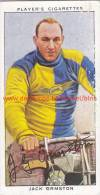 1937 Speedway Rider Jack Ormston - Trading Cards